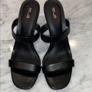 Diane von Furstenberg viviene leather wedge mules
